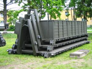 Platforma do transportu materiałów sypkich