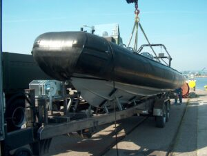Przyczepa do transportu łodzi